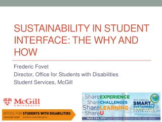 Sustainability in Student Interface: The Why and How