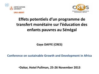Conference on  sustainable Growth and Development in Africa