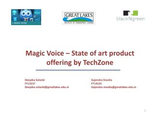 Magic Voice – State of art product offering by  TechZone