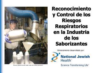 Reconocimiento y Control de los Riesgos Respiratorios en la Industria de los  Saborizantes
