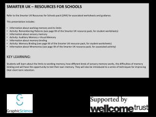 SMARTER UK – RESOURCES FOR SCHOOLS