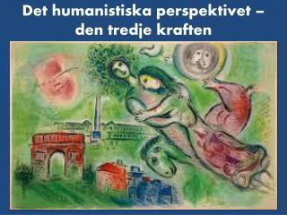 Det humanistiska perspektivet – den tredje kraften