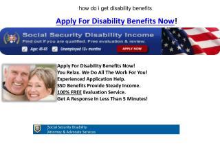 how do i get disability benefits