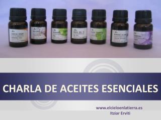 CHARLA DE ACEITES ESENCIALES