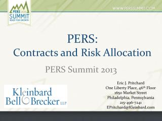 PERS :   Contracts and Risk Allocation