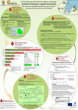 Le Plan Sésame des Personnes âgées au  Sénegal : Tentative d'inclusion,  rapport d'exclusion