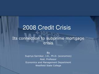 2008 Credit Crisis