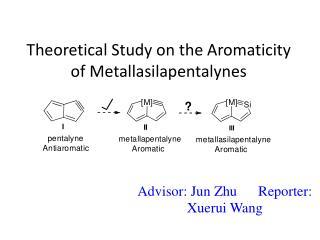 Theoretical Study on the  Aromaticity  of  Metallasilapentalynes
