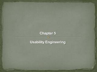 Chapter 5 Usability Engineering