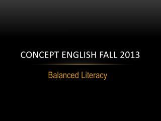 Concept English Fall 2013