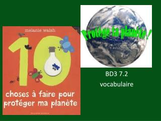 BD3 7.2 vocabulaire