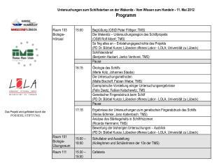 Untersuchungen zum Schilfsterben an der  Wakenitz  - Vom Wissen zum Handeln - 11. Mai 2012