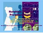 Nutrition Service  Providers Guide