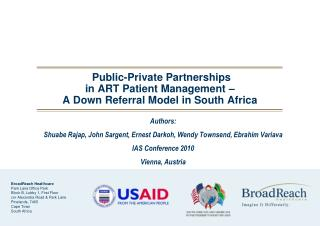 Public-Private Partnerships  in ART Patient Management –  A Down Referral Model in South Africa
