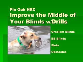Blinds have three distinct parts