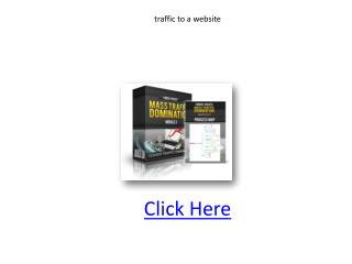 traffic to a website