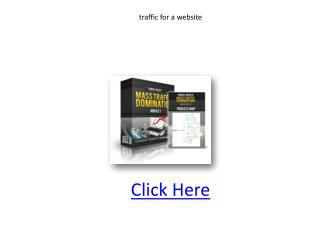traffic for a website