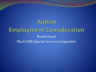 Autism Employment Consideration