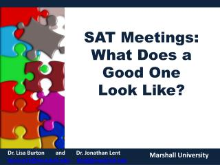 SAT Meetings:  What Does a Good One  Look Like?