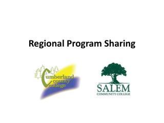 Regional Program Sharing