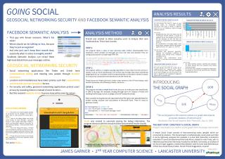 GOING SOCIAL GEOSOCIAL NETWORKING  SECURITY AND  FACEBOOK SEMANTIC ANALYSIS