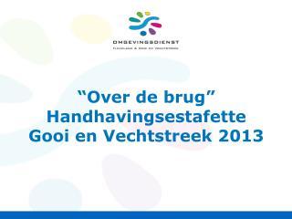 """"""" O ver de  brug """" Handhavingsestafette Gooi  en  Vechtstreek  2013"""