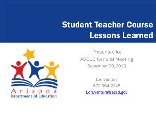 Student Teacher Course  Lessons Learned