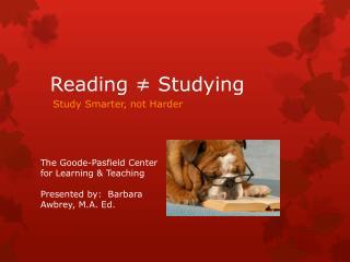 Reading ≠ Studying