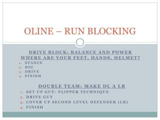 OLINE – RUN BLOCKING