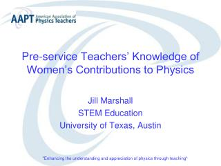 Pre-service  Teachers' Knowledge of Women's Contributions to Physics