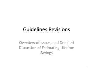 Guidelines Revisions