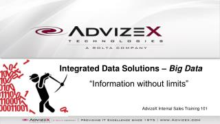 AdvizeX  Internal Sales Training 101