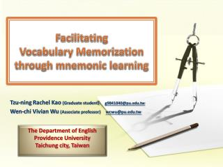 Facilitating  Vocabulary Memorization  through mnemonic learning
