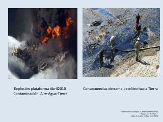Explosión plataforma Abril2010  Contaminación  Aire-Agua-Tierra