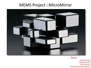 MEMS Project :: MicroMirror