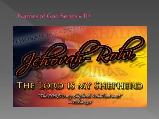 Names of God Series #10