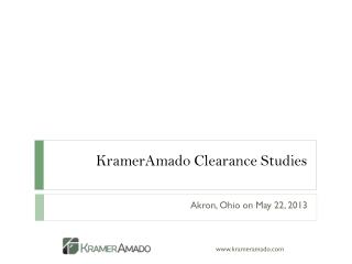 KramerAmado Clearance Studies
