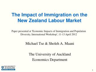 The Impact of Immigration on the New Zealand Labour Market