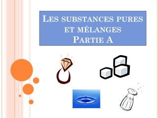 Les substances pures et mélanges Partie A