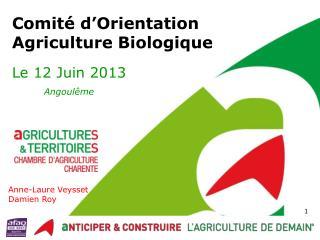 Comité  d'Orientation  Agriculture Biologique