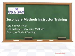 Secondary Methods Instructor Training
