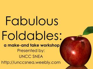 Fabulous  Foldables : a make-and take workshop