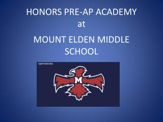 HONORS PRE-AP ACADEMY  at