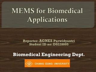 MEMS  for Biomedical Applications