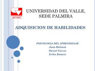 ADQUISICION DE HABILIDADES