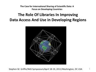 The Role Of Libraries In Improving  Data Access And Use in Developing Regions