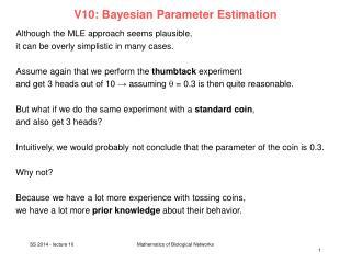 V10:  Bayesian  Parameter  Estimation