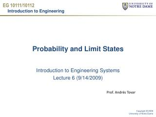 Probability and Limit States