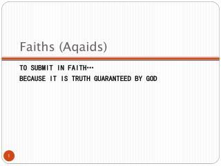 Faiths (Aqaids)