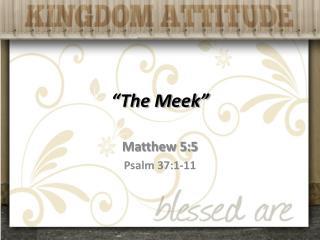 """""""The Meek"""""""